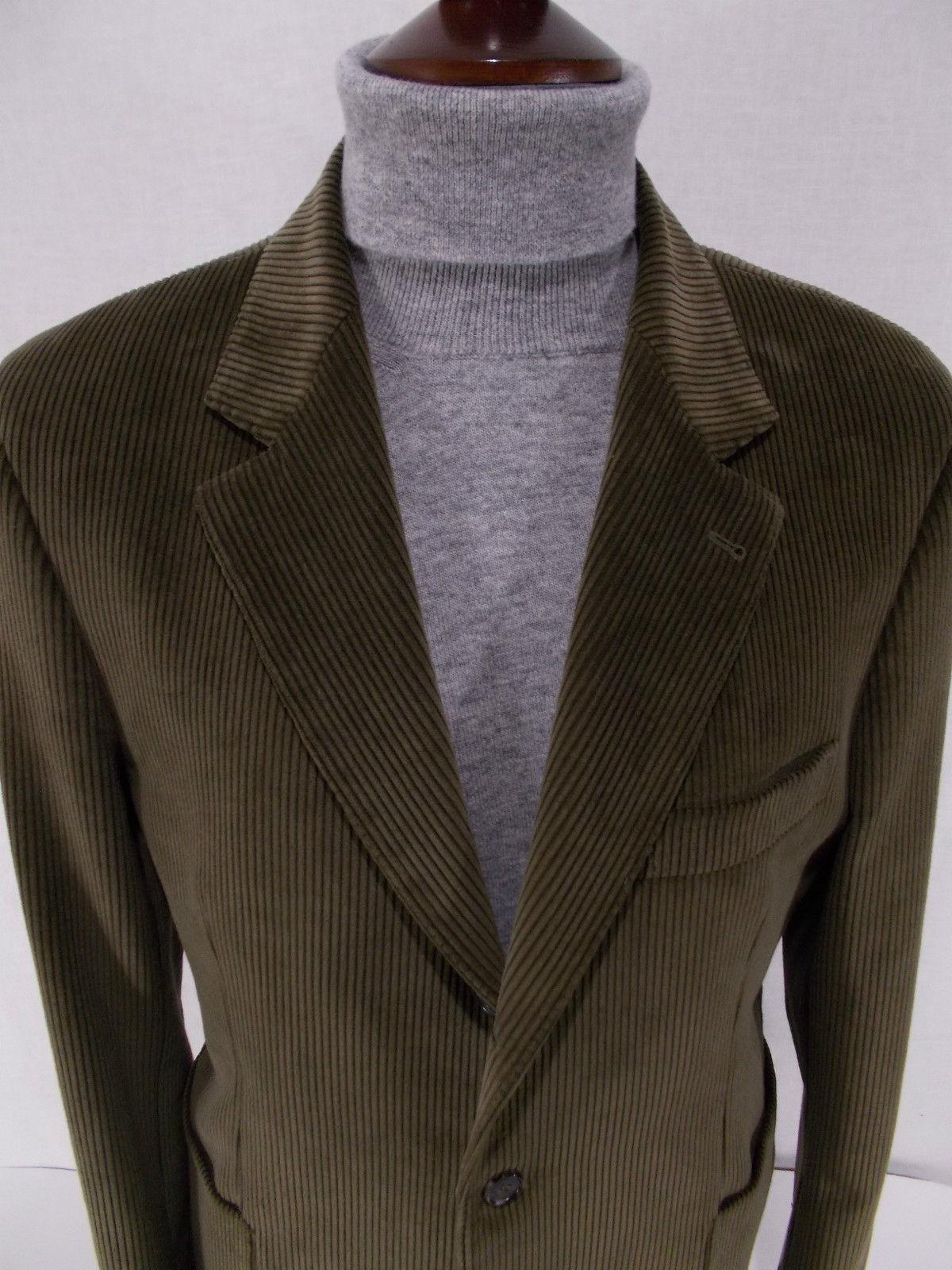 28f53816ea Dettagli su D'AVENZA giacca UOMO sartoriale VELLUTO verde tg. 52-56-58(IT)  42-46-48(US) 6R