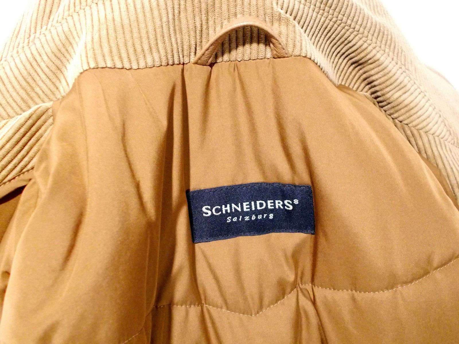 SCHNEIDERS caban uomo GIACCA giaccone VELLUTO jacket BEIGE tg. 48(IT ... 0055ec354f6